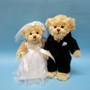 Teddybären Hochzeitspaar von Barbara Bukowski
