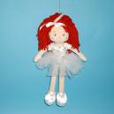 Stoffpuppe Emilii mit weißen Tüll Rock 30 cm